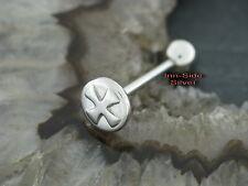 Croce di ferro della Lingua Piercing Barbell Piercing Disk