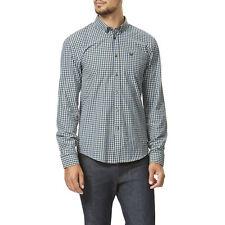 Morley Men's Fine Check Poplin Long Sleeve Cotton Shirt