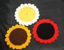 Handmade Crochet Girasole/Poppy/Daisy Sottobicchieri/MINI CENTRINI/HOT Pad