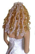 LadyMYP© Kopfschmuck mit Perlen und Blüten, Kommunion, Hochzeit, mehrere Längen