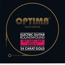 Optima/Maxima  24K Gold Electric Strings 9-42