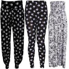 Femmes Grande Taille Tête De Mort Pirate Imprimé Legging Pantalon Palazzos 8-30