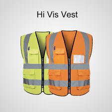 1PCS Gilet de sécurité haute visibilité Réfléchissant Vest Orange/Jaune