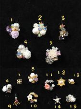 3D Nail Art Crystal Gems Flower 25 pieces