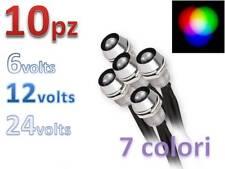 10 X LED 5mm 6V 12V 24V Cablati cielo stellato spia Lampada lampadina pre-wired