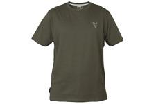 Fox Green / Silver T-Shirt ALL SIZES Carp fishing tackle