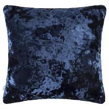 "NAVY BLUE THICK SOFT CRUSHED VELVET DARK ROYAL BLUE 17"" CUSHION COVER £8.99 EACH"