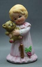Growing Up Girls Figurine Blonde Pink Gown Age1 Enesco 1981 Ellen Williams