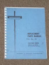 Kearney & Trecker Replacement Parts Manual Pub. No. 42