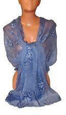 Elegante Sciarpa Scialle Stola Coprispalle Da Donna Ricamata Fiori Sfumata