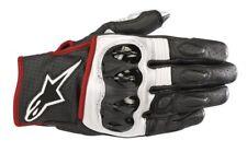 Alpinestars Celer V2 White/Red/Fluo Leather Short Summer Motorbike Gloves