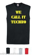 Herren Tank Top - WE CALL IT TECHNO - ATHLETIC MUSKELSHIRT - ÄRMELLOS -