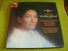 BOX 3 LP PUCCINI-CALLAS: MANON LESCAUT-SERAFIN -EMI RLS 737-MONO