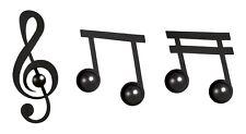 SET DA 3PZ GANCI APPENDIABITI PARETE MURO MUSICA NOTE DESIGN ARTI E MESTIERI