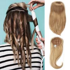 100% Virgin Remy Human Hair Machine Weft Silk Straight Half Wig for 3/4 Head