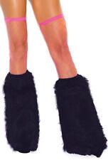 Womens rave gogo dancer black leg warmers