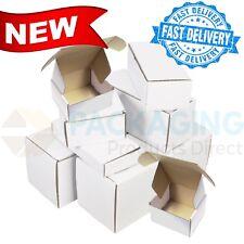 White Die Cut Folding Lid Cheap Postal Cardboard PIP Boxes Small Parcel 10x6x4''