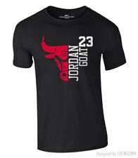 Jordan T-Shirt 23 GOAT Chicago Bulls Michael Basketball Shirt NBA S-XXL