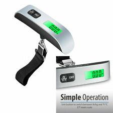 Mini Portable Digital Travel Luggage Scale LCD Display Hook Weighting 110Lb GL