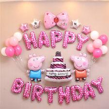Baby Boy Girl Peppa Pig Celebration Birthday Party Balloons set Helium Filled UK