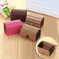 BL_ Creative Bamboo Wooden High Capacity Case Jewelry Box Storage Organizer Pret