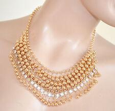 COLLANA ORO donna girocollo elegante collarino cristalli cerimonia collier 455
