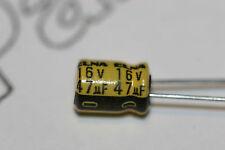 100x 47uF 16V aluminio electrolítico Radial Condensador Elna