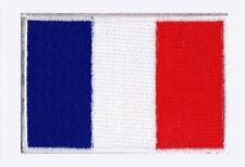 Ecusson brodé à coudre patch patche drapeau France Français 70/45 mm