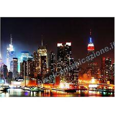 QUADRI MODERNI POSTER DESIGN ARREDO SKYLINE CITY NIGHT STREET URBAN NEW YORK