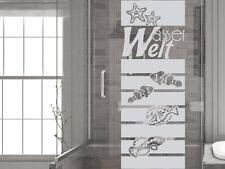 Glasdekor Fensterfolie Duschkabine für Badezimmer Wasser Welt Unterwasser
