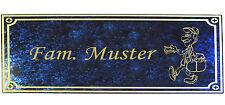 Türschild Namenschild für Briefkasten oder Klingel  Wohnungstür auch Logo
