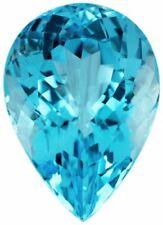 Natural Fine Swiss Blue Topaz - Pear Shape - Namibia - AAA Grade