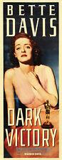 Dark Victory Bette Davis vintage movie poster print