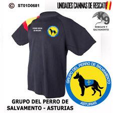CAMISETAS TECNICAS UNIDADES CANINAS: GRUPO DEL PERRO DE SALVAMENTO - ASTURIAS