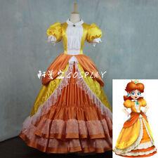 Super Mario Princess Daisy Costume Sisters Adult Women Cosplay Dress Bros Luigi:
