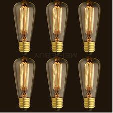 6x 3x 1x  ST64 Edison Vintage 40/60W E26 Light Lamp Bulb Filament Incandescent