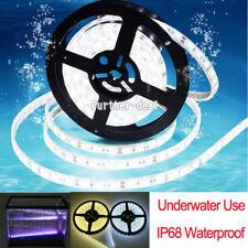 5M LED Light Strip 5050 IP68 Waterproof Fish Tank Pool Underwater DC 12V 300LED