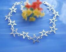 Armband Silber 925 Sterne 18 -19 cm Stern Sterlingsilber flach modern sa16