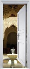Sticker porte trompe l'oeil Fontaine Orientale 90x200 cm réf 312