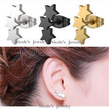 Fashion Pair Surgical Steel Three Stars Earrings EV108