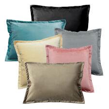 Samt weicher Kissenbezug Plüsch-Kissen mit 2cm Steg Kissenhülle Größen- Farbwahl