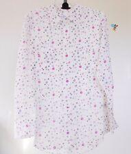 NWT EQUIPMENT Signature Silk Shirt in Paris Print, Nature White, retail $268