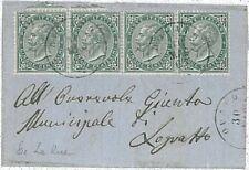 ITALIA REGNO: francobolli DE LA RUE su BUSTA DA NOVARA