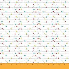 oiseau soimoi 147.32cms métier large tissu de coton décoratif 1 au mètre