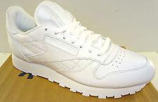 REEBOK Men's Classic Leather Walking Shoe  J90117  White  NWD