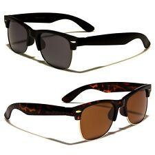 Vintage Half Frame Polarized Horned Rim Men Women Fashion Sunglasses