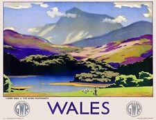 TX433 Vintage British WALES Cader Idris GWR Railway Travel Poster A2/A3/A4