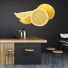 Gele citroen slice Vers fruit Muursticker WS-46778