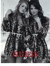 PUBLICITE 2012  GUESS haute couture hiver manteaux