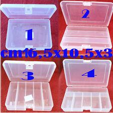 scatola plastica porta mosche artificiali pesca cucchiaini trota cavedano fili